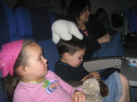 Our flight to Australia