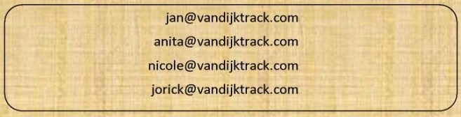 Our email addresses.
